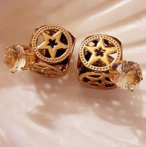 🌟Crystal Double-Side Star Cage Earrings🌟